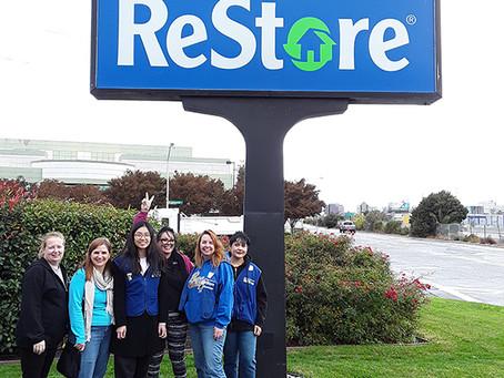 Volunteering at the Habitat for Humanity Restore store in Santa Clara