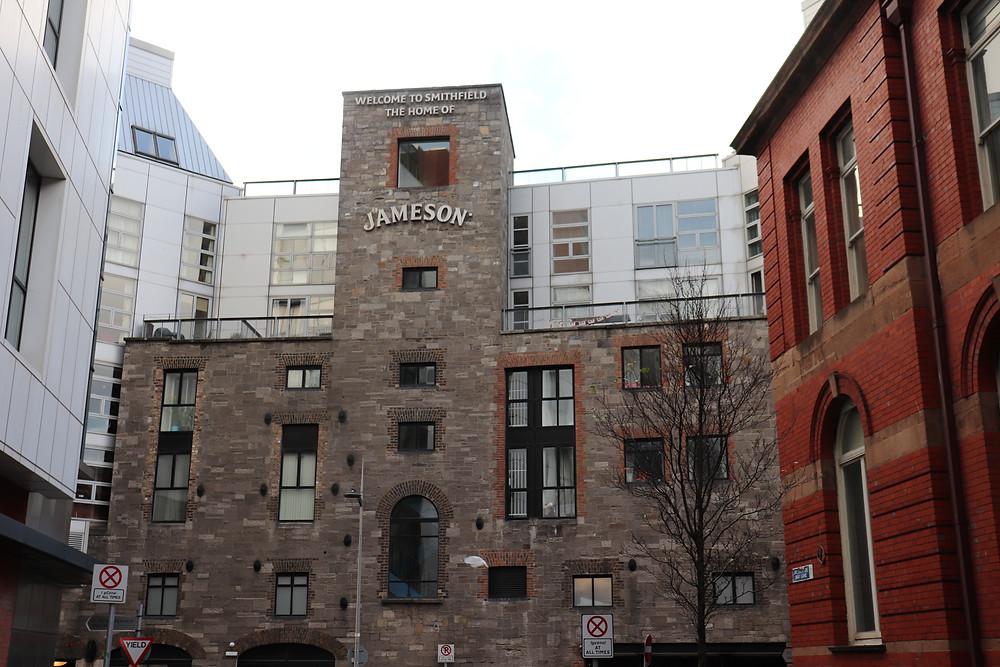 Jameson Distillery from the outside in Dublin Ireland