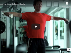 Lateral raise with dumbbells