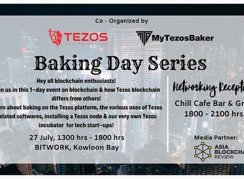 Tezos Baking Day, Hong Kong (27 July 2019)