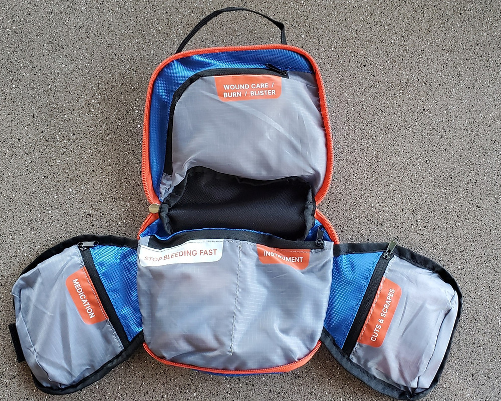 inside adventure medical first aid kit