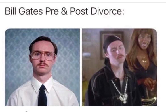 Bill Gates pre & post divorce Napoleon Dynamite Meme & Many More Funny Memes