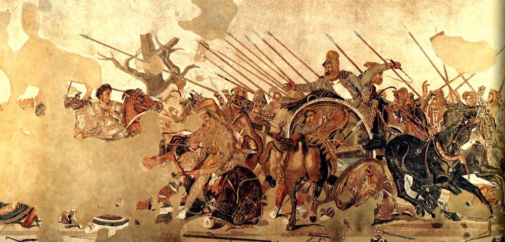 Mosaico de la Batalla de Issos, Alejandro Magno, hectorrc.com