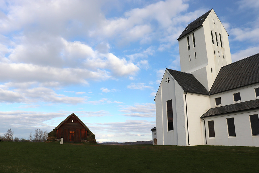 Skalholt church in Iceland