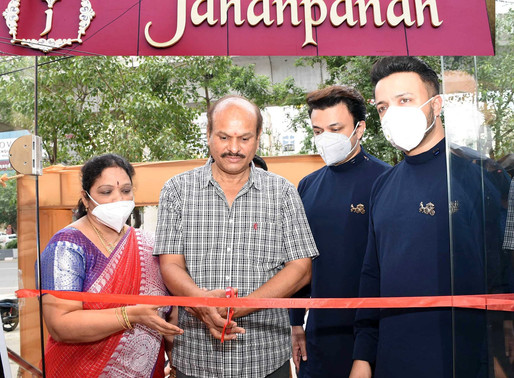 Jahanpanah unveiling its 26 th Store at Kothapet in Hyderabad.