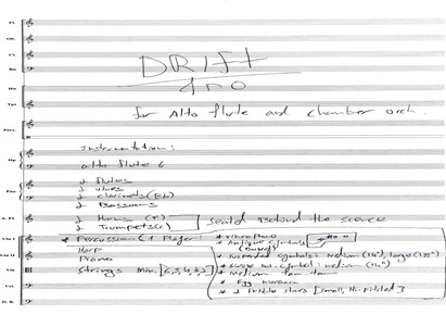 DRIFT for Alto Flute and Chamber Orchestra