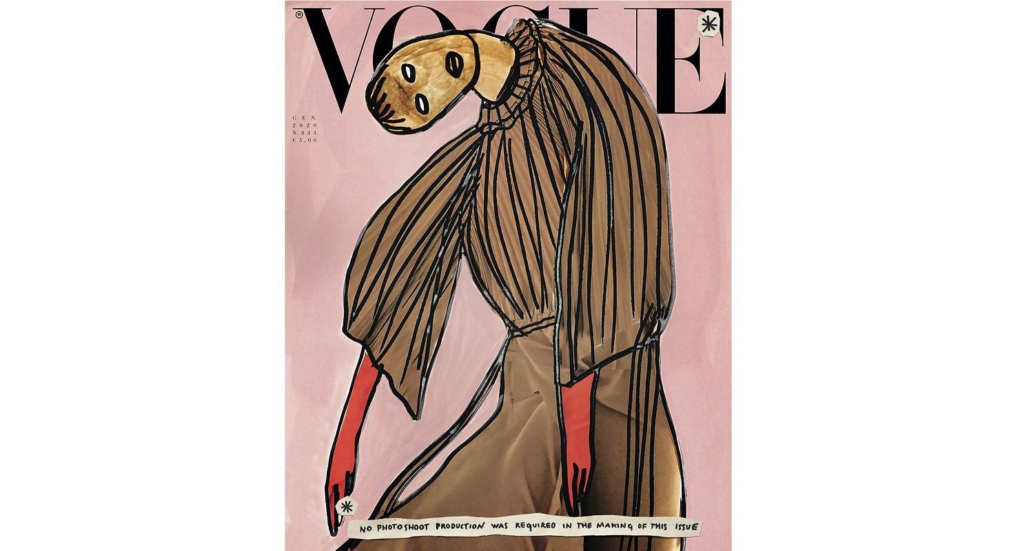 Vogue Italia Cover featuring artist Vanessa Beecroft