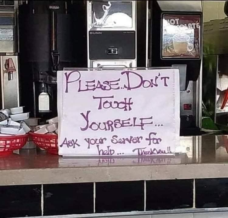 Don't Touch Yourself Sign