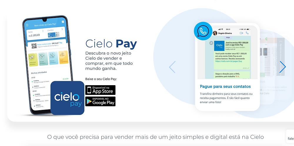 Cielo Pay mande dinheiro via WhatsApp
