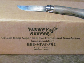 'Unboxing' and Assembling Honey Keeper's Deluxe Deep Hive Frames