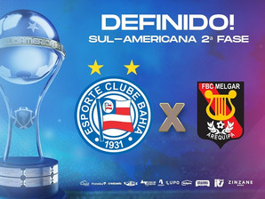 Bahia enfrenta Melgar-PERU na Copa Sul-Americana