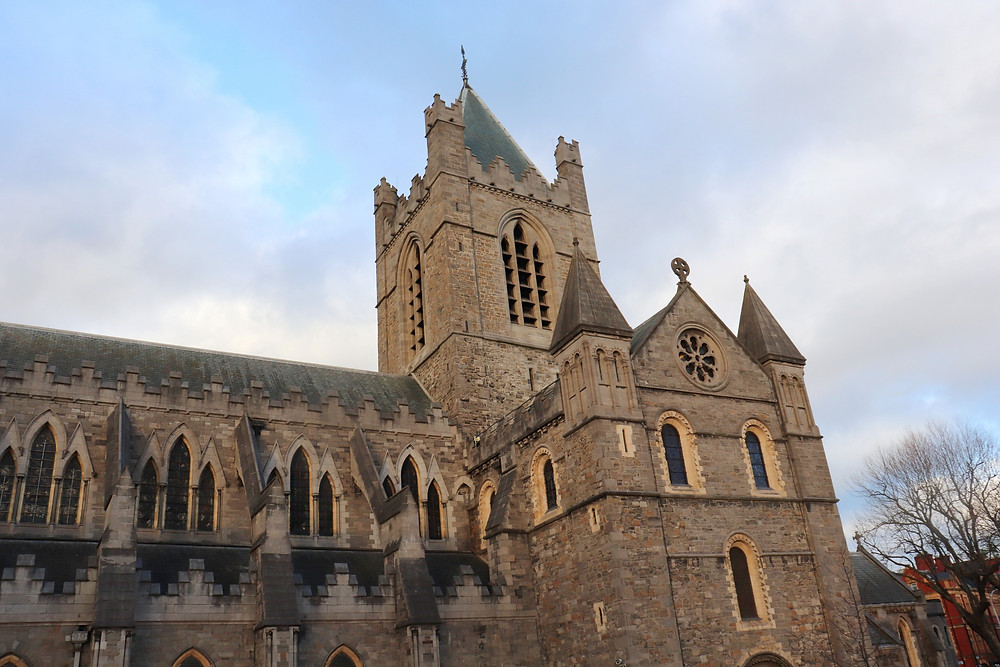 Christ Church Cathedral from the outside in Dublin Ireland