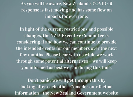A note from NZIA Executive Committee