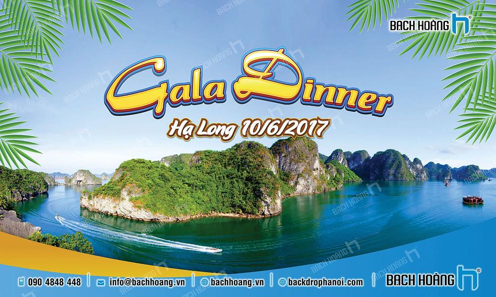 Mẫu backdrop phông Gala Dinner, Team Building đẹp nhất