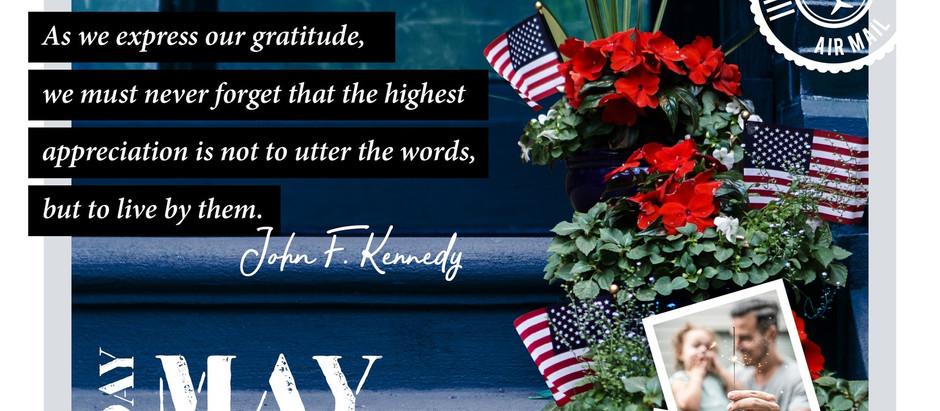 Wishing You A Beautiful Memorial Day Weekend (Madison & Co)