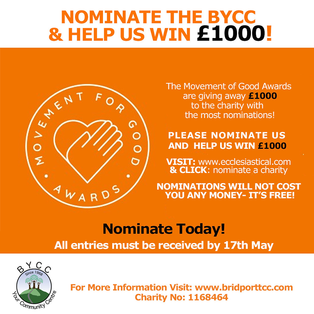 Nominate the BYCC & help us win £1000!