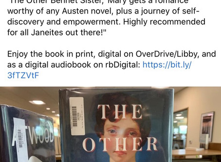 "Recommended ""The Other Bennet Sister"" by Janice Hadlow."