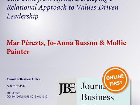 This time from Africa: developing a relational approach to values-driven leadership