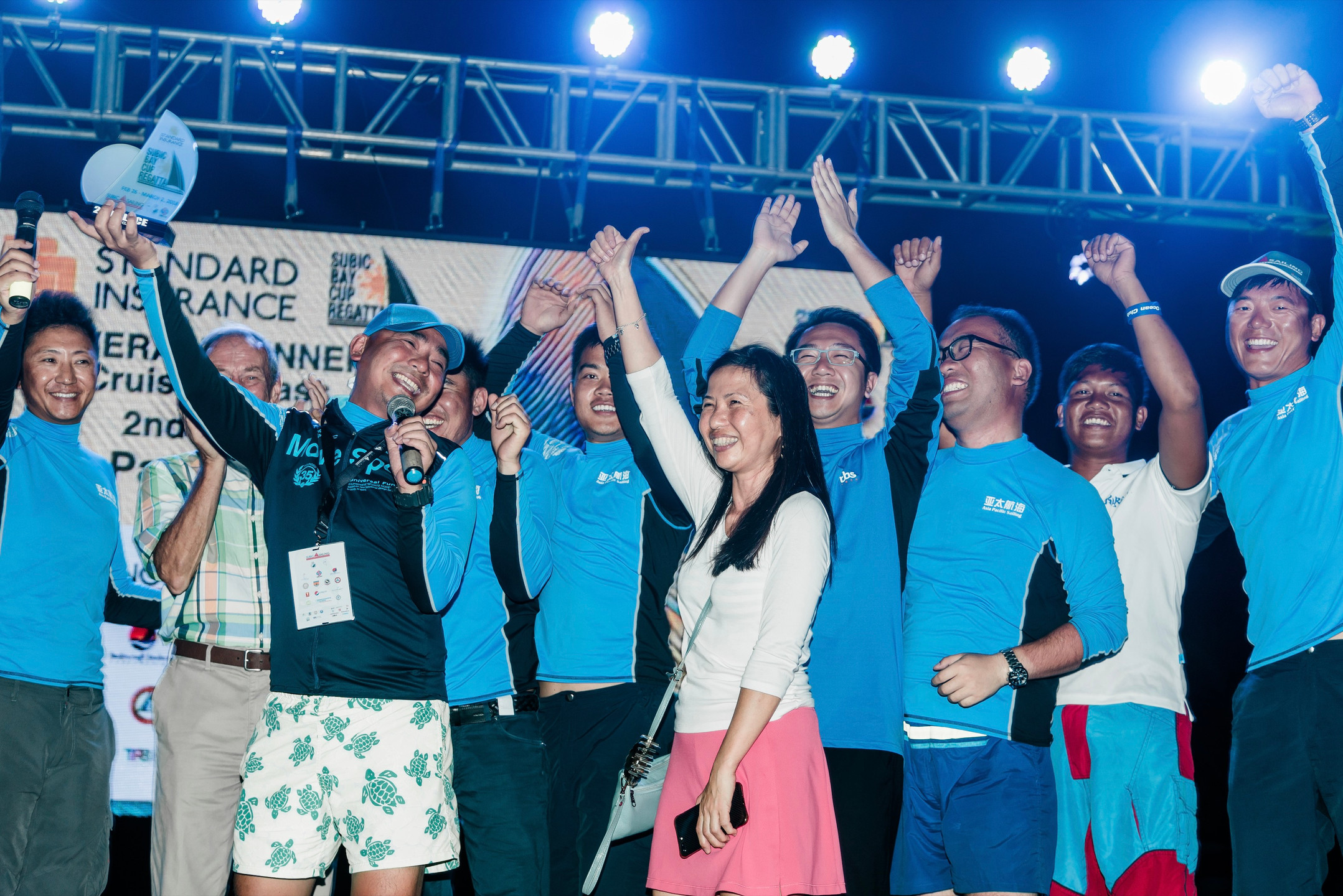 Asia Pacific Sailing Team during the awarding in Subic Bay