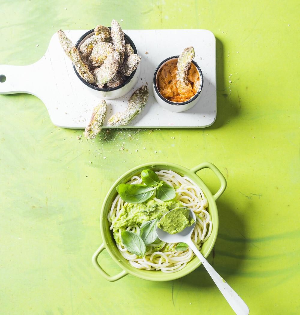 avokadų puselės, keptos avokadų puselės, avokado patiekalai, veganiški patiekalai, Alfo Ivanausko receptai