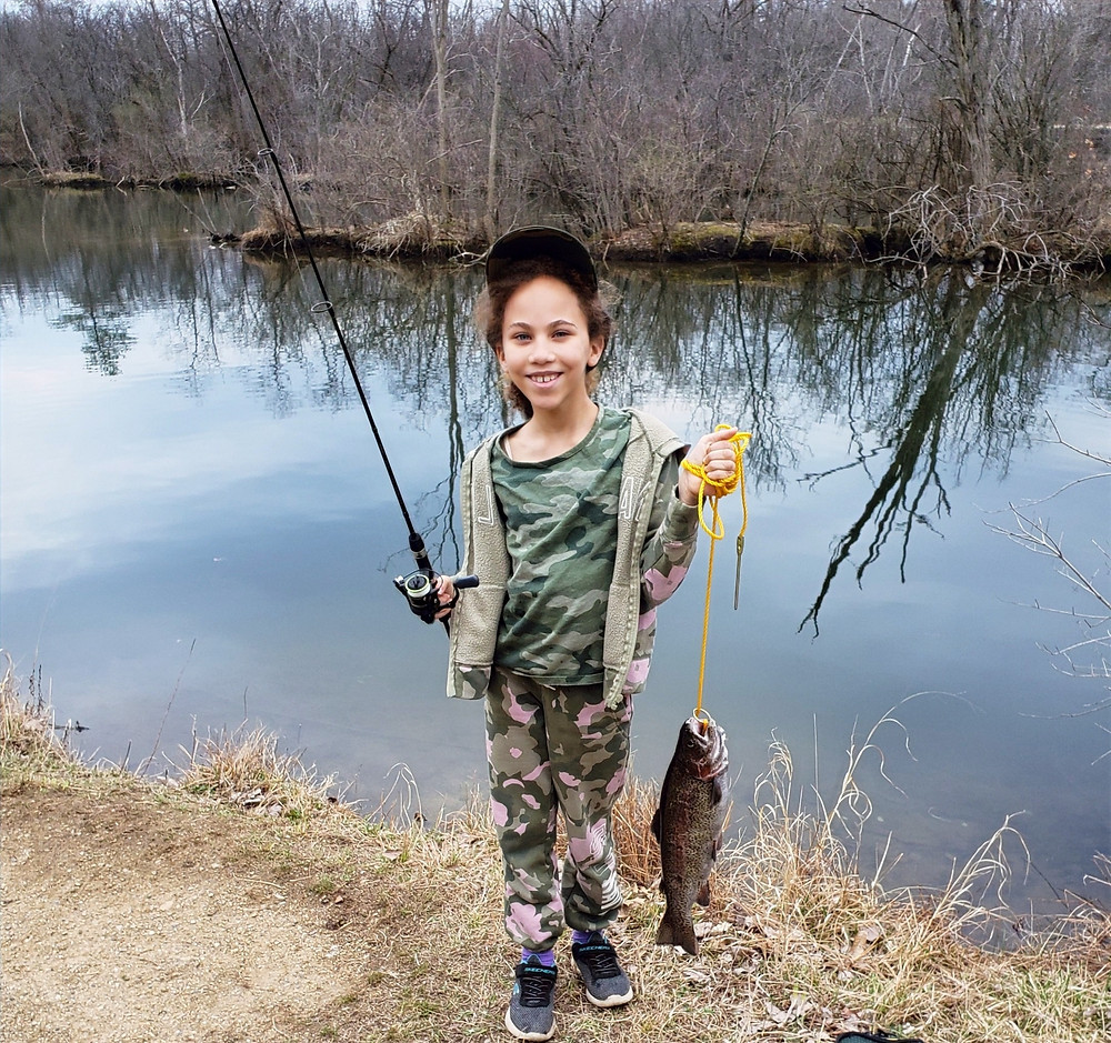 Catching trout and taking kids fishing