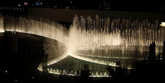 Dubai Fountain at Night