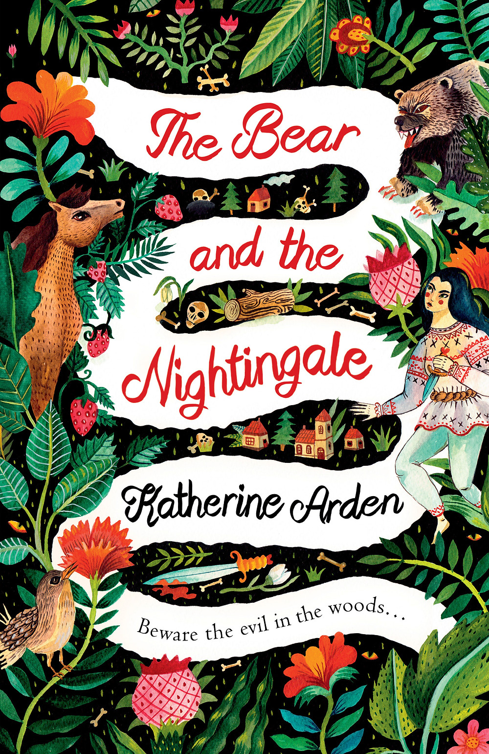 The Bear and the Nightingale by Katherine Arden : the book slut book reviews thebookslut best floral book covers valentines day books