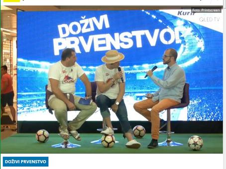 Gostovanje Džentlmena u T.C.Usce u emisiji 'dozivi prvenstvo' po povratku sa S.P u fudbalu u Rusiji