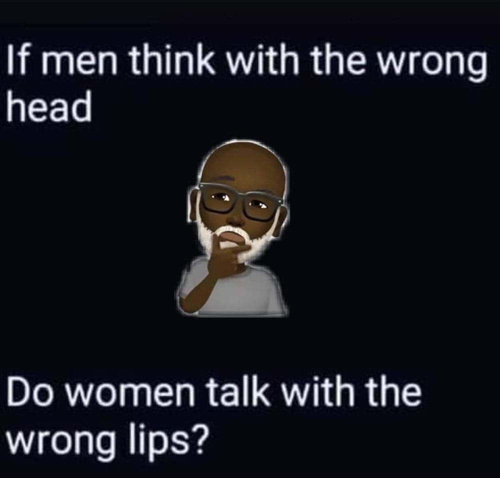 Men Wrong Head Women Wrong Lips Meme
