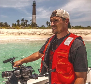David Ruck filming for NOAA