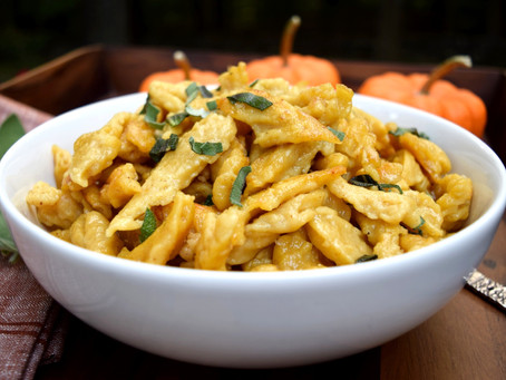 Pumpkin Nokedli with Sage and Brown Butter