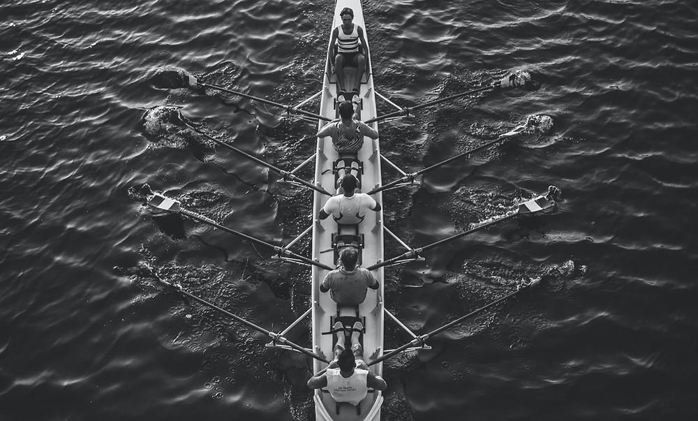 Teamwork Ruderregatta