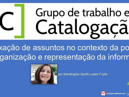 (Webinar) - Indexação de assuntos no contexto da política de organização e representação da info.