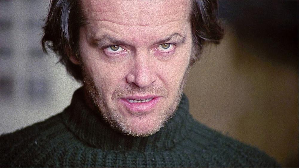 Jack Nicholson staring at something off screen