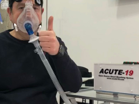 International High Flow Network apoya el proyecto ACUTE-19, primer respirador de turbina COVID-19