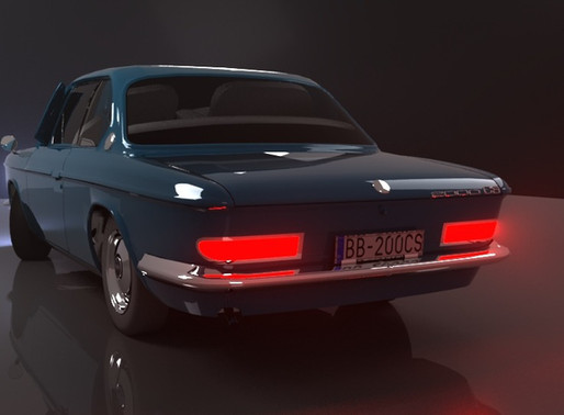3D Car - Lighting and Rendering