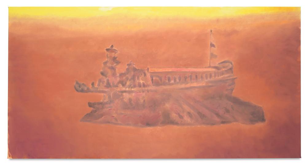 Venedig, 2017, olio su tela, 107,3 x 208 cm Collezione privata. Courtesy the artist and David Zwirner New York / London Photo credits: Studio Luc Tuymans, Antwerp