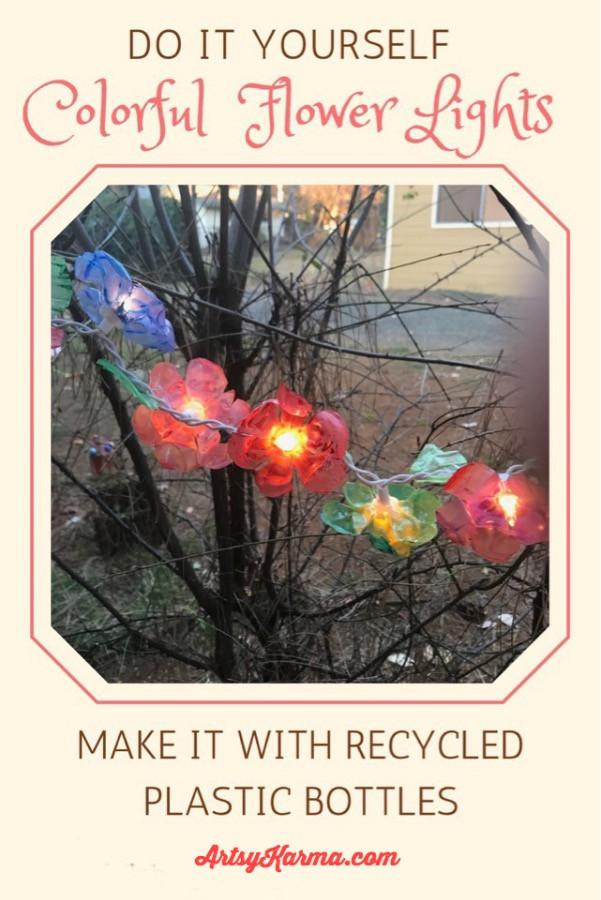 diy recycled plastic flower lights
