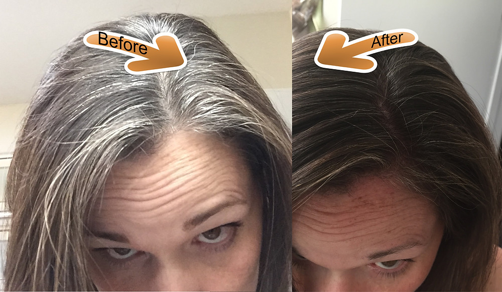 Natural Brown Hair Dye Before and After