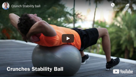 Crunches on the stability ball