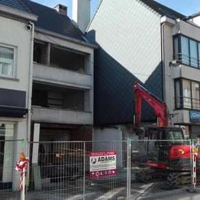 Plaatsing bouwkraan