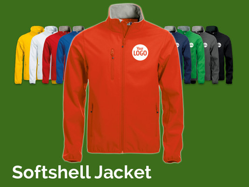 Stay warm and dry with our brilliant Softshell Jacket!