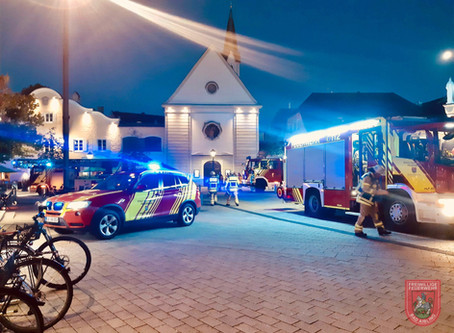 Brandmeldealarm im Rathaus