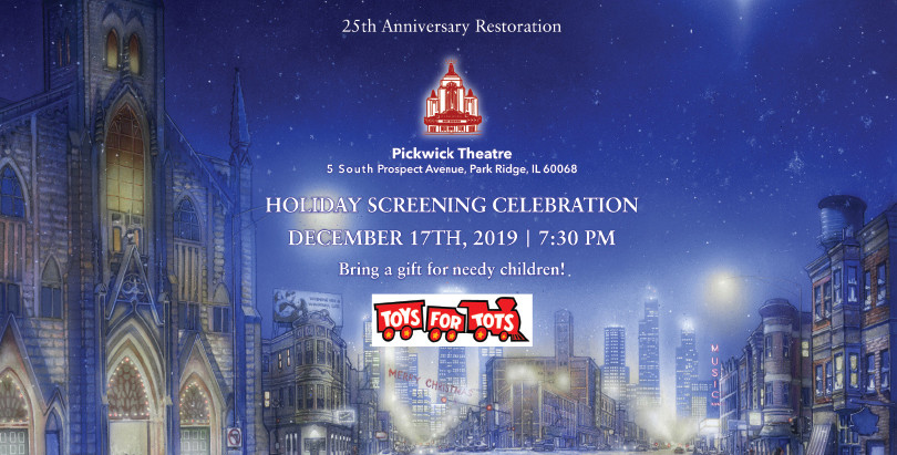 Help us collect Toys for Tots at our last 25th Anniversary Screening 12/17 at the Pickwick Theatre!