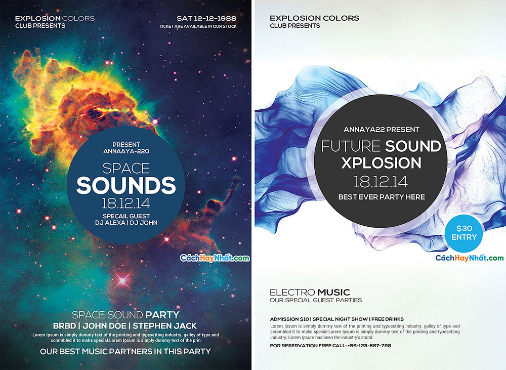 Download File Party Flyers PSD Free 02