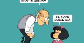 Quino se despede de Mafalda.