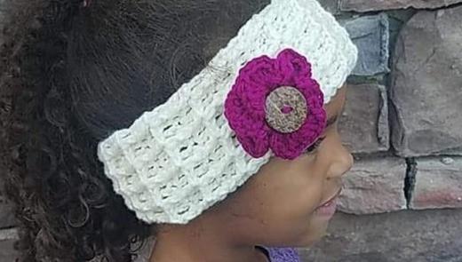 crochet ear warmer pattern waffle stitch