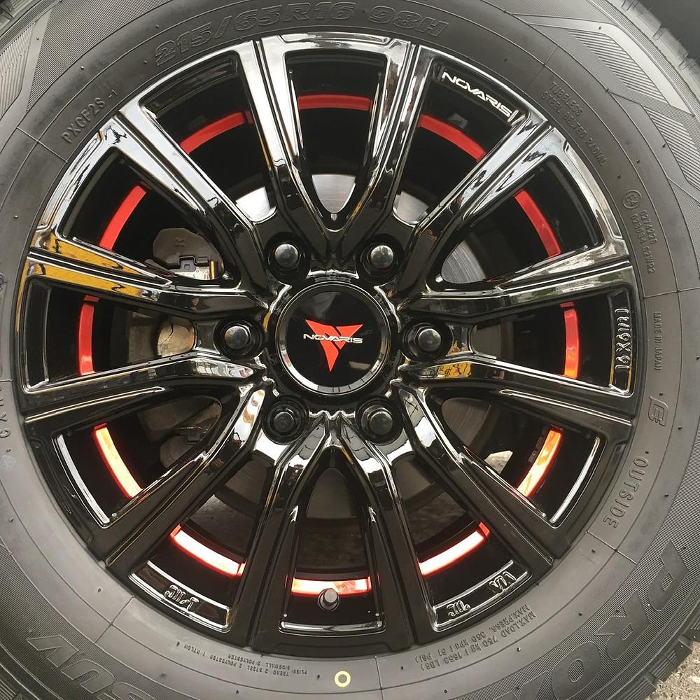 トヨタ ハイエース 200系 ウェッズ ノヴァリス ローグCB (weds novaris rohgue CB) 16インチ6.5J 箱車 レジアスエース