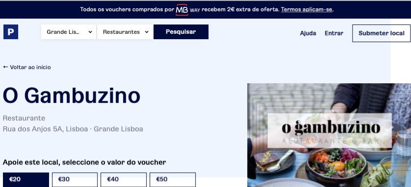 PreservePT O Gambuzino Vouchers