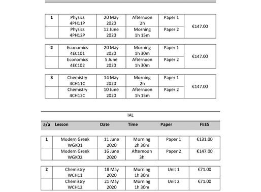 PEARSON/ EDEXCEL INTERNATIONAL _ GCSE/ GCE/                       IAL QUALIFICATIONS
